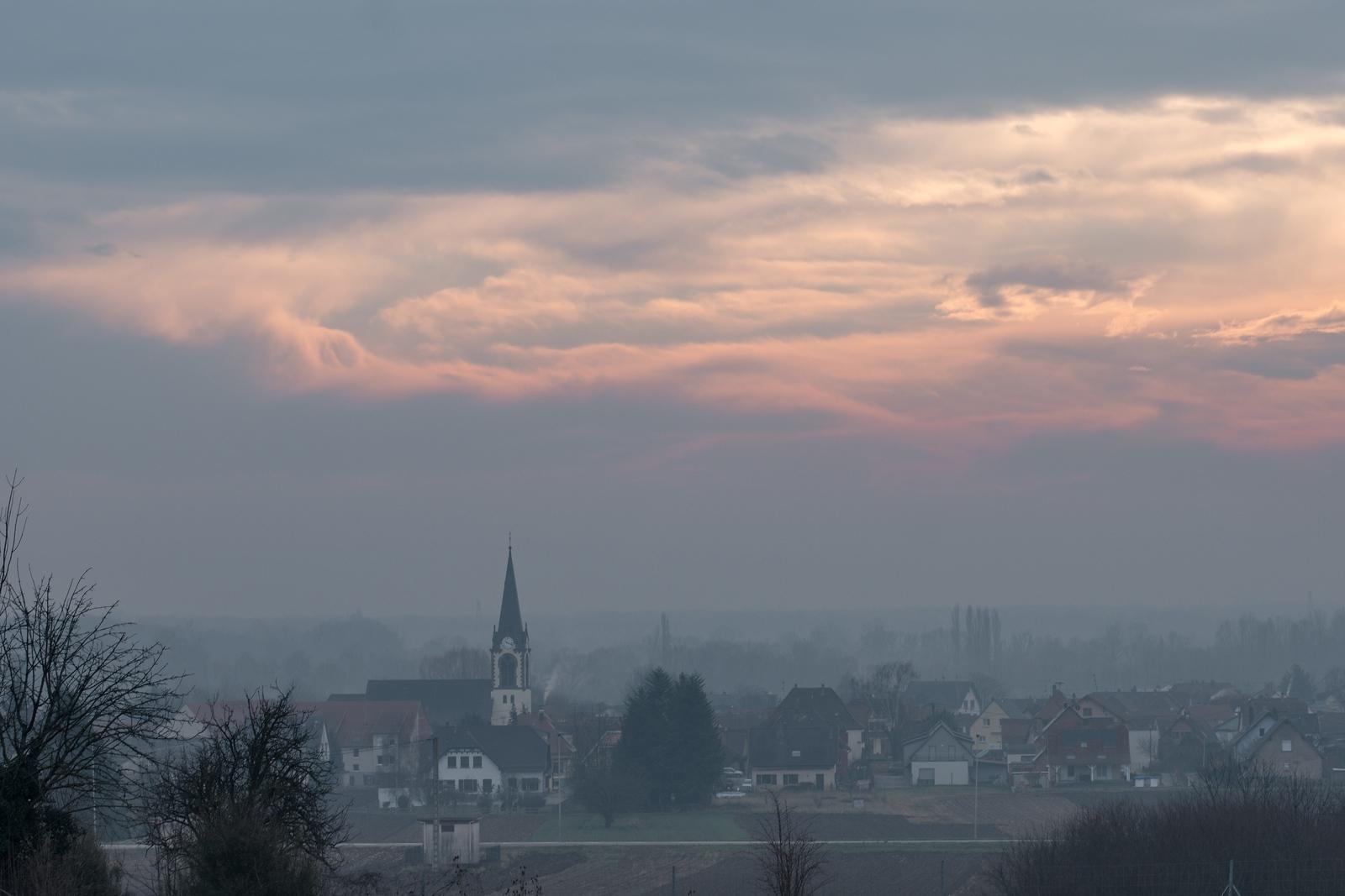 Janvier 2018, Innenheim vu depuis la route de Duttlenheim