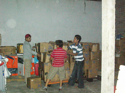 Food stored in Warehouse
