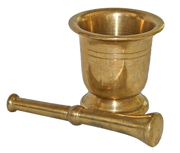 Brass Mortar & Pestle