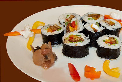 all-vegetable sushi