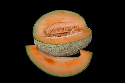 a large, ripe cantaloupe