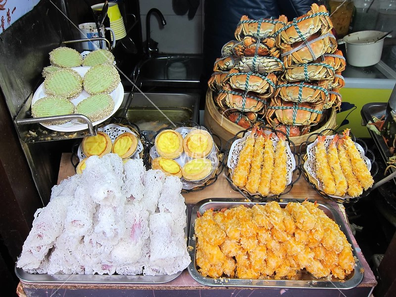 HuFang Market food vendor, Hangzhou, Zhejiang Province, China by kstellick
