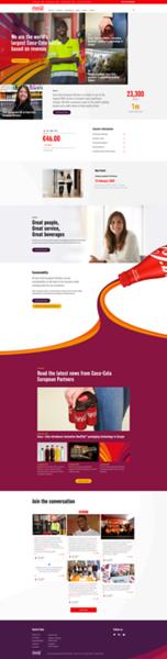 Coca Cola European Partners Website