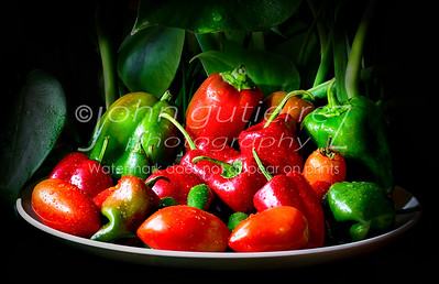 Platter of garden peppers-1