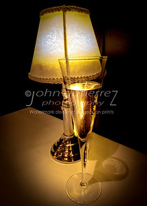 Champagne and lamp