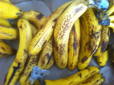 1/18/2011 - 12:45 PM - Meal 2 - Bananas - 1200g - 276 carbs - 1068 calories.   I did not use my scale to measure this meal.  I had 12 bananas that weigh roughly 11g each.