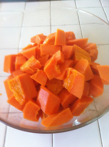 1/18/2011 - Meal 1 - 10:00 AM - Papaya - 1840g - 166 carbs - 718 calories