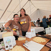 Jessica Guerrero and Rebecca King of Garden Valley Cheese, cut the Cheese at the 2013 California's Artisan Cheese Festival's Cheese Tasting and marketplace on March 24th at the Sheraton Sonoma County.