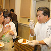 Volunteers talk with Tolay's Excutive Chef, Danny Mai, at the 2013 California's Artisan Cheese Festival's Grand Cheese Tasting on March 23rd at the Sheraton Sonoma County.