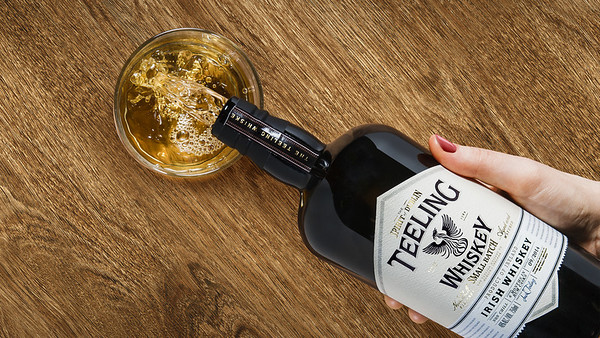 Teeling Whiskey bottle pouring