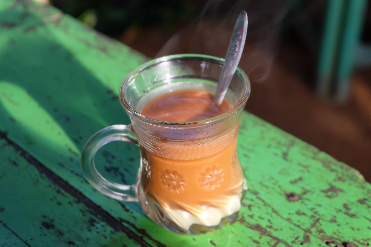 Tea at a tiny shop in Ywa-ma