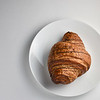 Chocolate croissant top view