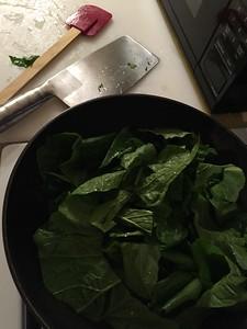Flash cooking Turnip Greens