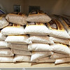 Catholic Charities of Worcester County in Leomisnter had a stocked food pantry on Monday, March 16, 2020. Some of the rice they had on their shelves in their pantry. SENTINEL & ENTERPRISE/JOHN LOVE