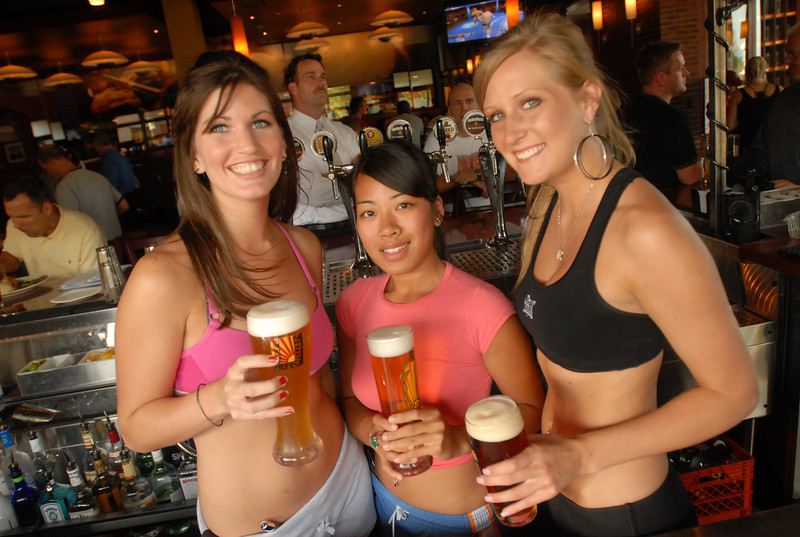 Bartenders, left to right, Jill Poffenberger, Mia Puth and Ashley Sumeric at Gordon Biersch, Bolingbrook Promenade, July 17, 2007.