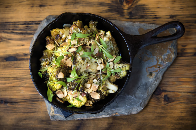 Charred Romanesco at Mollusk Seattle