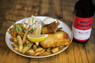 Fish and Chips at Mollusk Restaurant