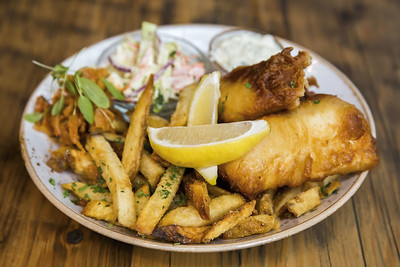 Fish and Chips at Mollusk Restaurant