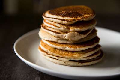 Stack of Golden Brown Pancakes
