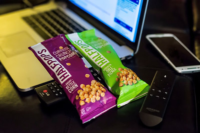 Half Pops popcorn snack