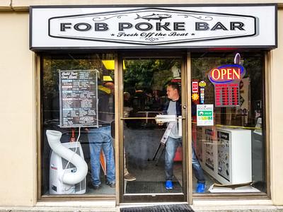 FOB Poke Bar in Belltown, Seattle