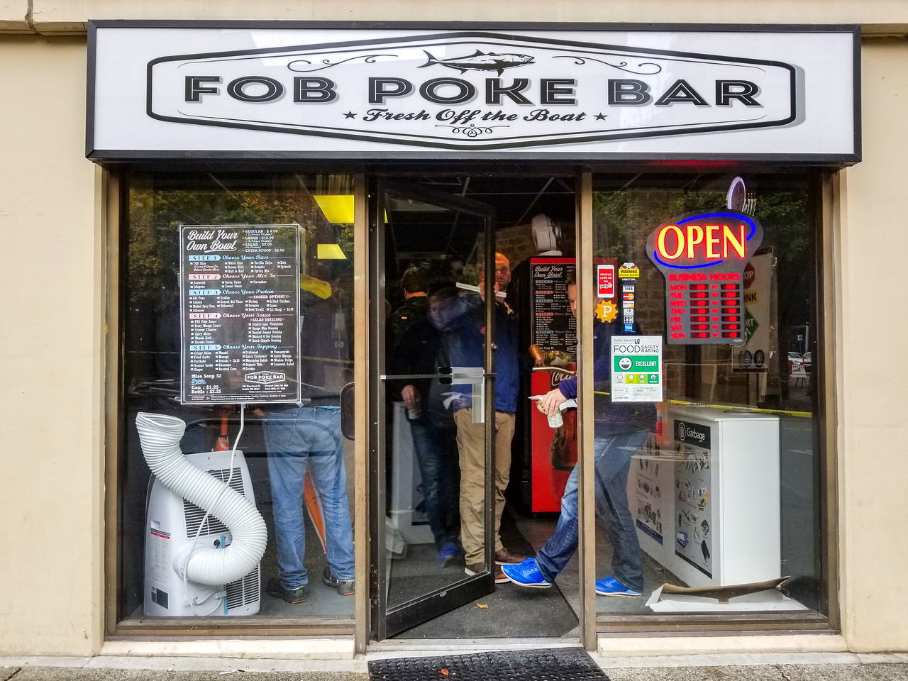 FOB Poke Bar in Belltown, Seattle