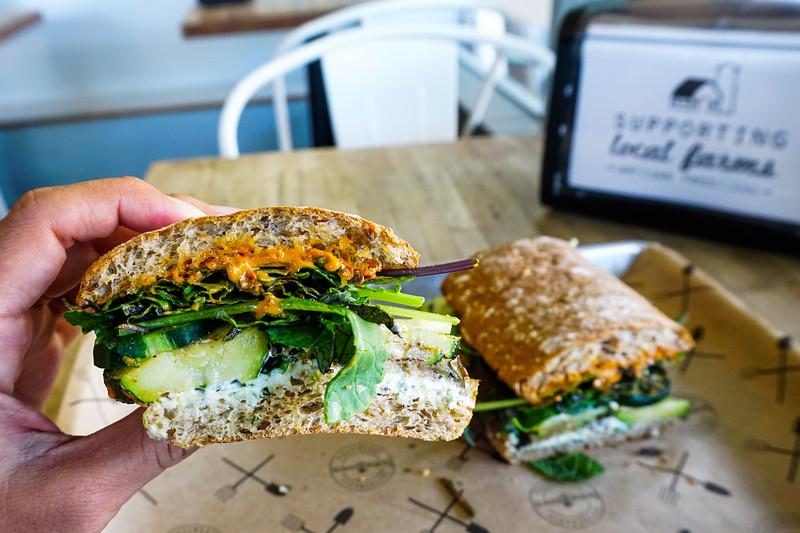 Za'atar Roasted Veggie Sandwich at Homegrown Seattle