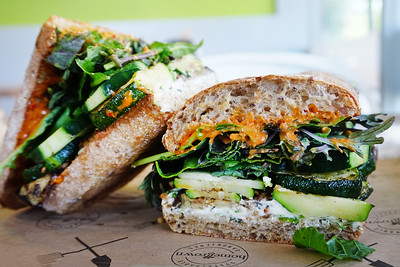 Za'atar Roasted Veggie Sandwich at Homegrown Seattle