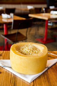 Cheese Wheel Pasta at Vivo 53 in Bellevue, WA
