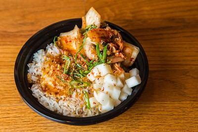 Kimchi rice bowl at Bok a Bok Fried Chicken