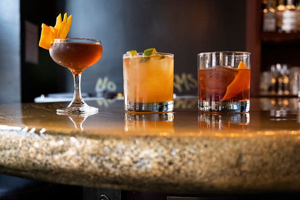 Cocktails at Gold Bar in South Lake Union, Seattle