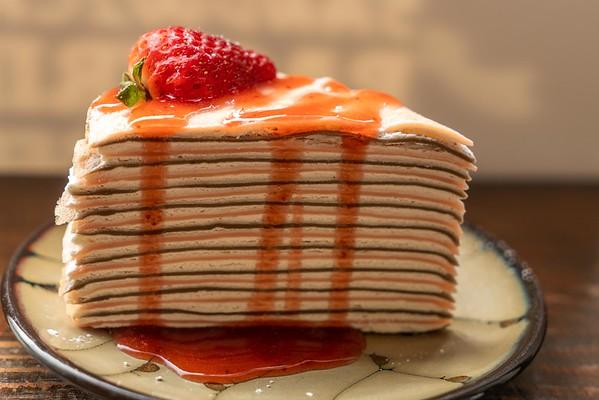 Strawberry layer cake at Reunion Malaysian Cafe in Kirkand, WA