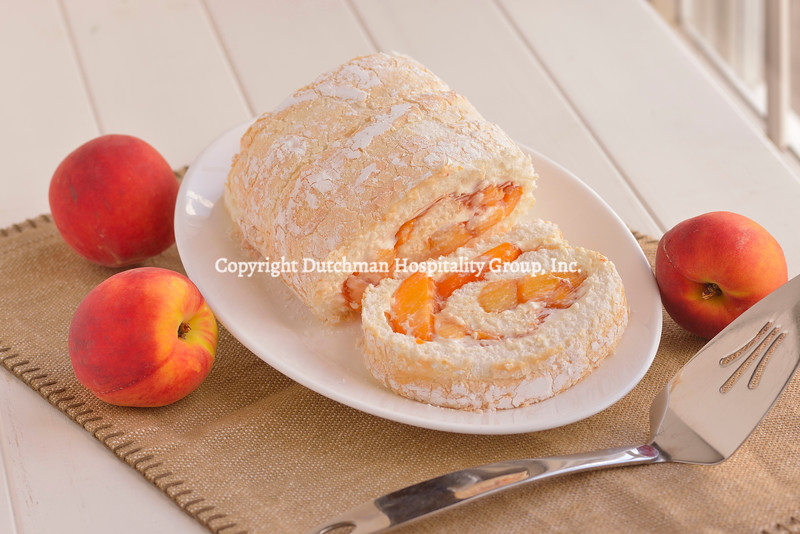 Fresh Peach Angel Food Roll