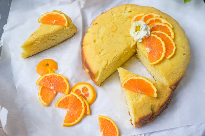 Orange Cream Cheese Cake