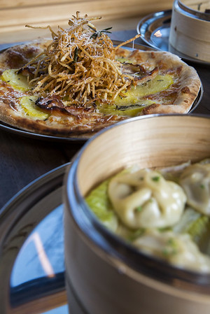 Pizza and Asian Dumplings at China Pie in Seattle