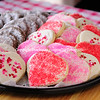 Valentine Sugar Cookies and Chocolate Crinkle Cookies