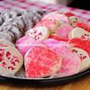 Valentine Sugar Cookies and Chocolate Crinkle Cookies