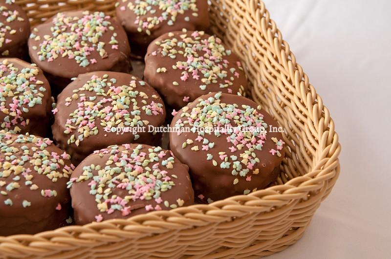 Chocolate Dipped Brownies with Sprinkles