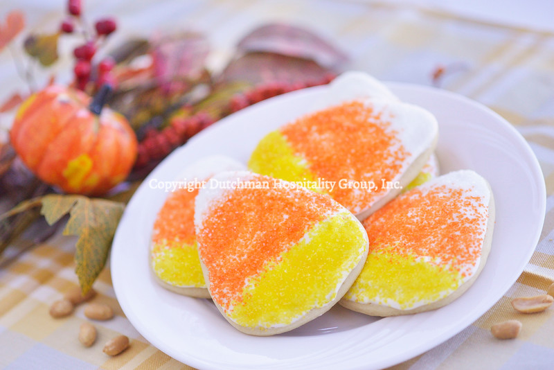 """Candy Corn"" Sugar Cookies"