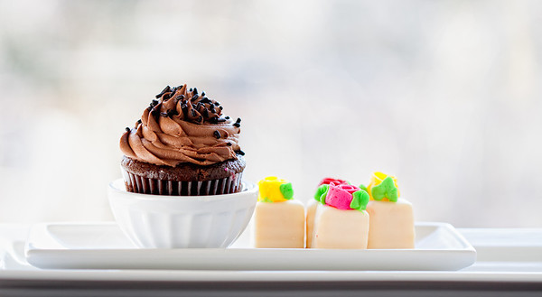 Chocolate cup cake with butter candy, nice way to just enjoy the day.