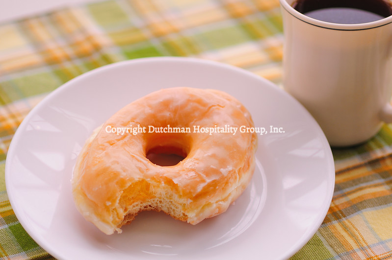 Glazed Donut and Coffee