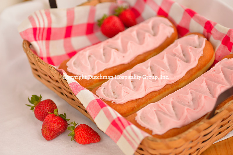 Strawberry Long John or Cream Stick