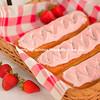 Strawberry Long John or Cream Stick