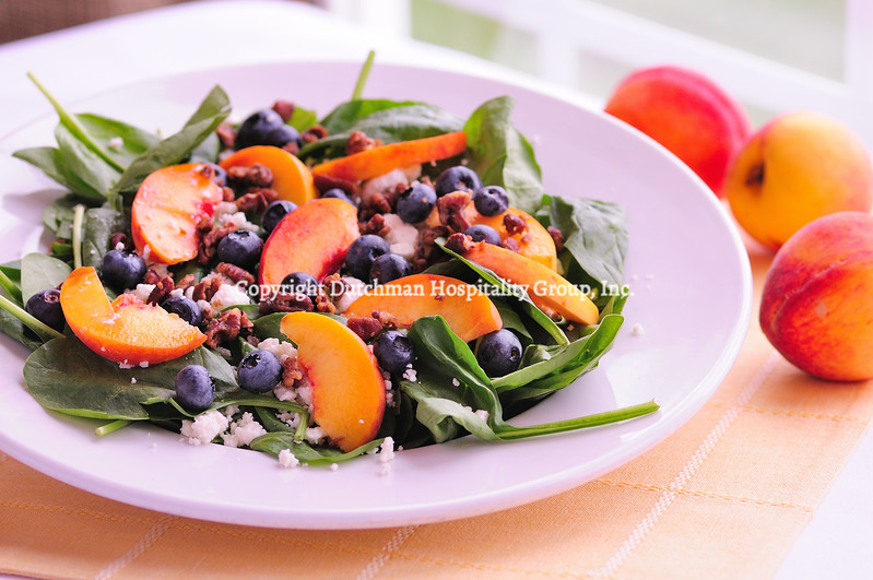 Fresh Peach Blueberry Salad