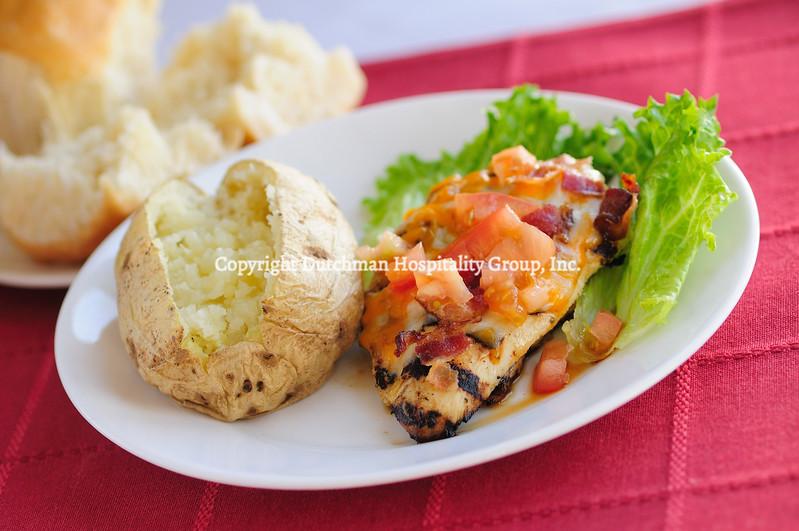 Chicken Monterey with Baked Potato