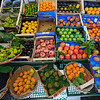 Italy, Val Chiavenna, Lombardy, fruit, produce, local, food market,