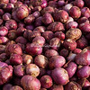 Red onions, Agra street market, India