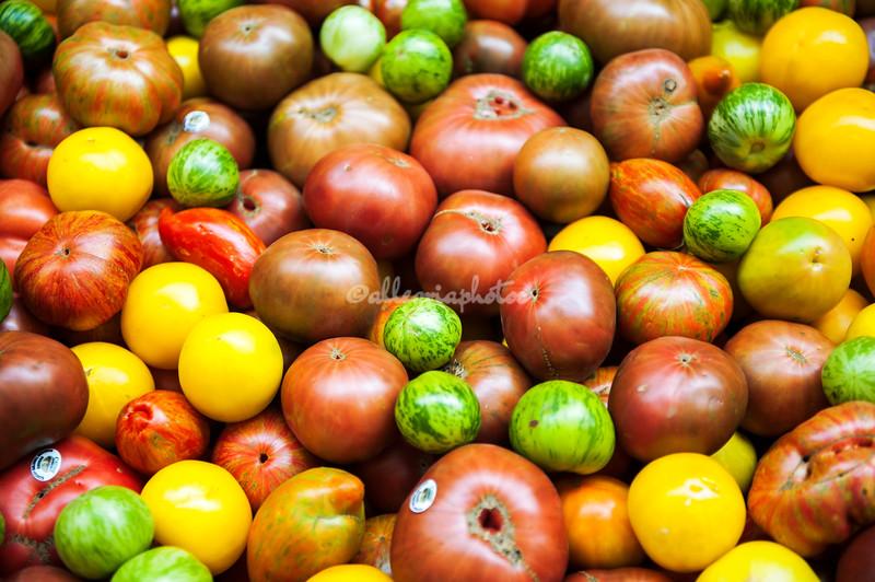 Heirlooms tomatoes, San Francisco Farmers Market