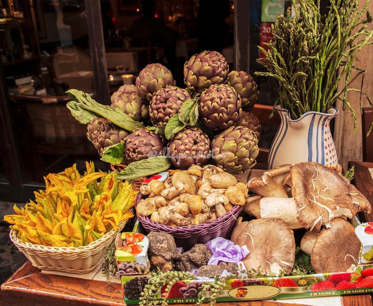 Display of spring foods, Rome