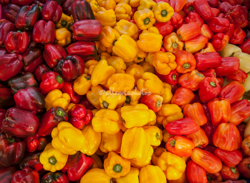 Multi colored peppers
